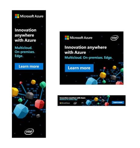 Static digital banners for Microsoft's Azure Hybrid created by VMG Studios