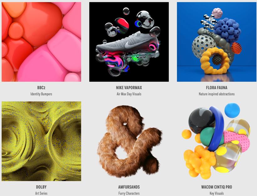 3D designs by artist David McLeod including a Nike shoe