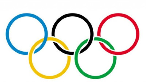 Olympics logo of 5 rings attached to one another