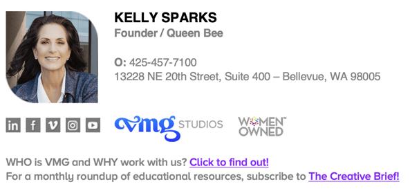 Kelly Sparks CEO VMG Studios