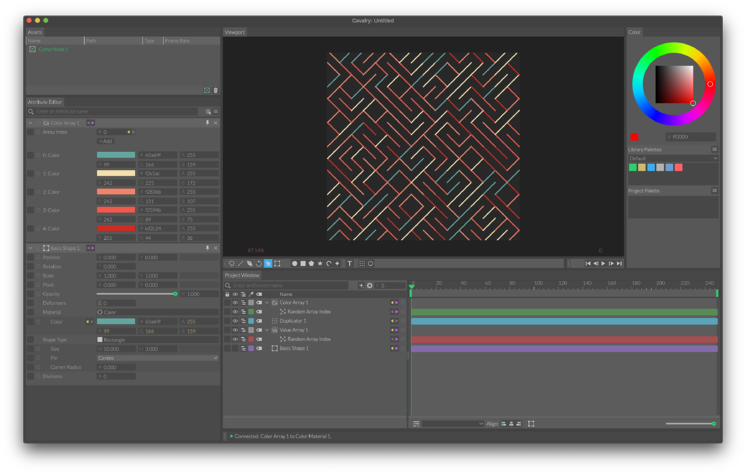 Motion graphics cavalry program from Mainframe