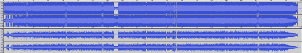 Difference in audio compression