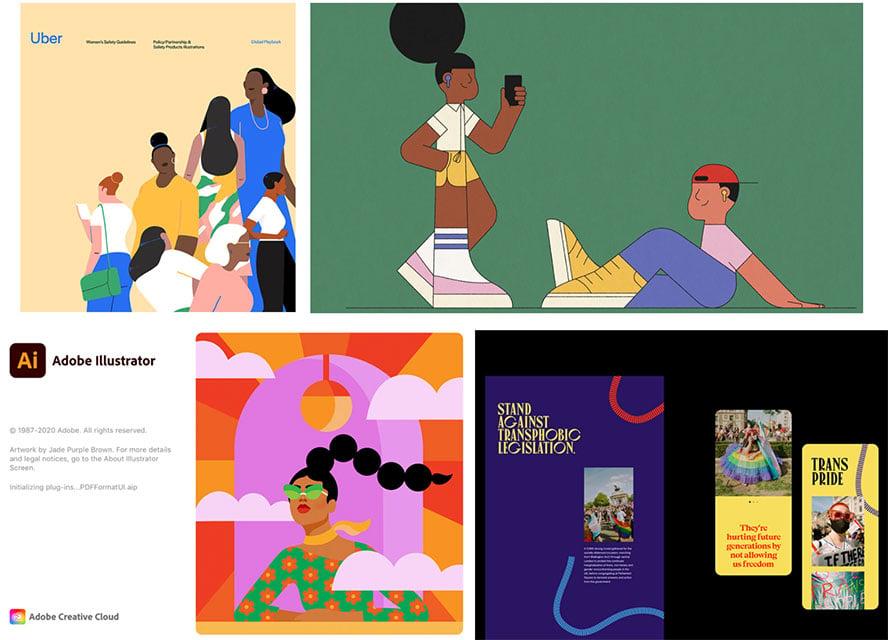 Authentic representation graphic design