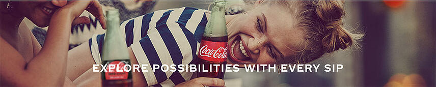 Professional photography Coca-Cola website