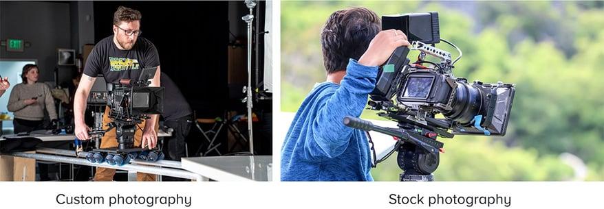 Custom versus stock photography cinematographer