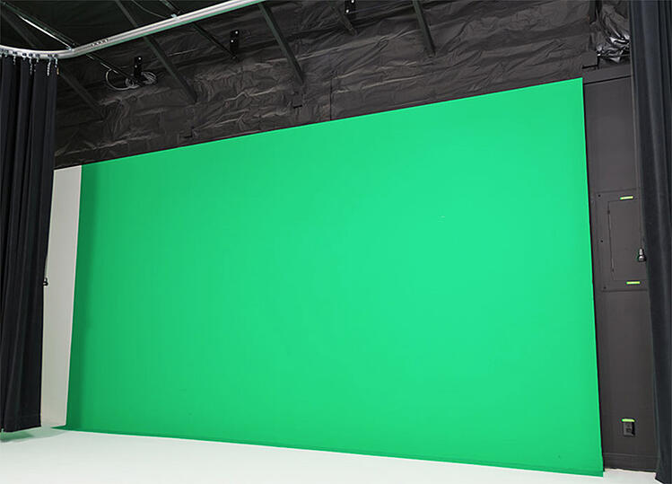 Green screen at VMG Studios