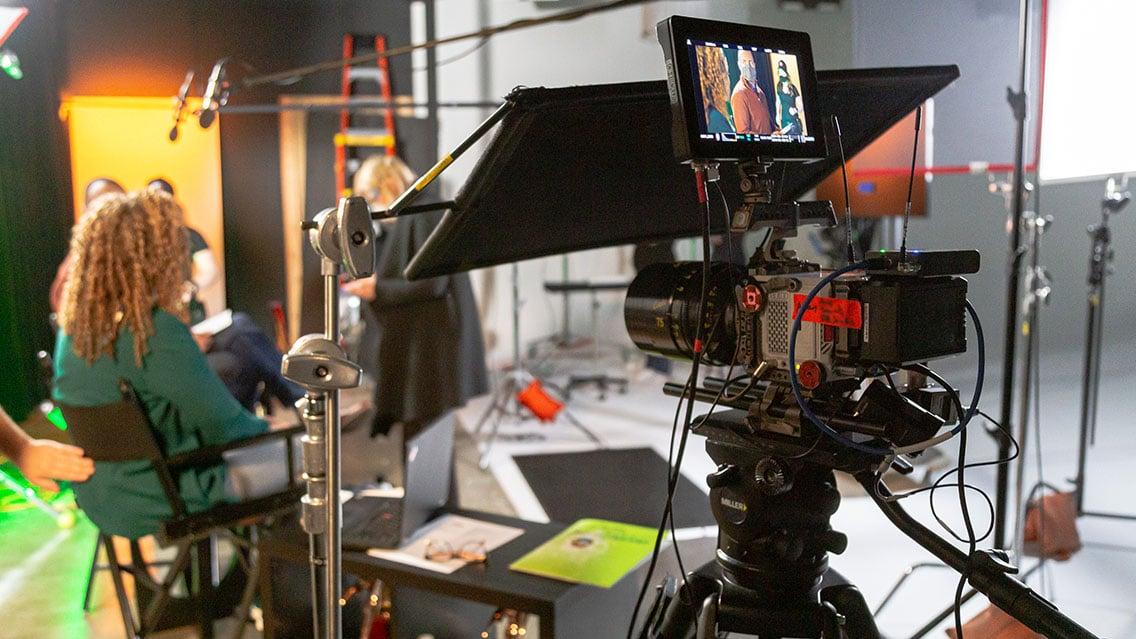 In studio vs on location video.