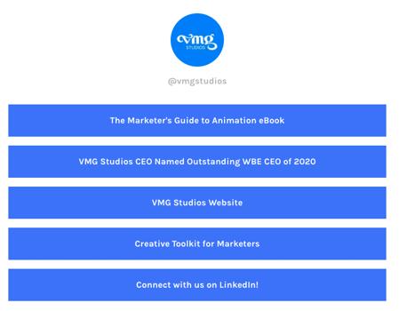 VMG Studios Instagram Linktree