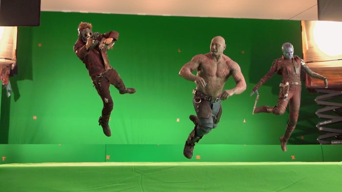 marvel green screen