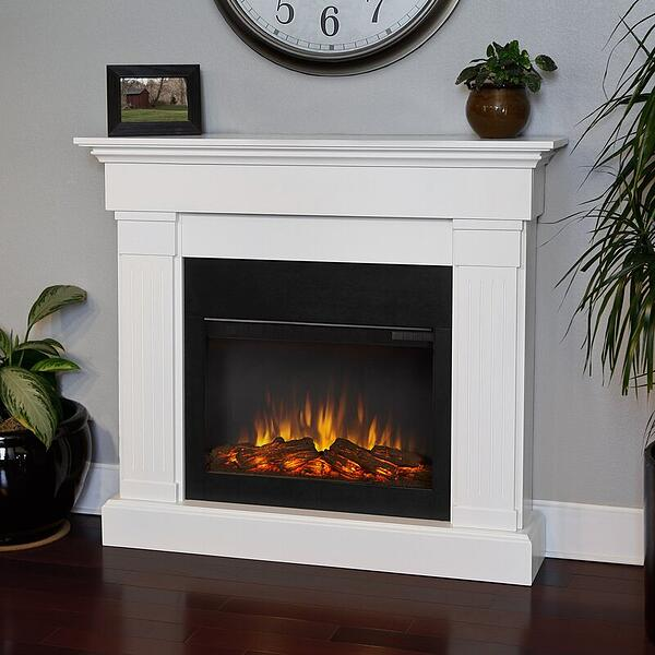 Electric fireplace professional photography