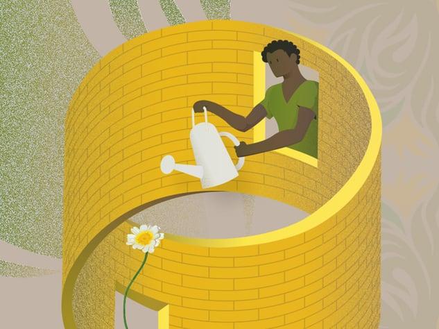 Optical illusion graphic design illustration