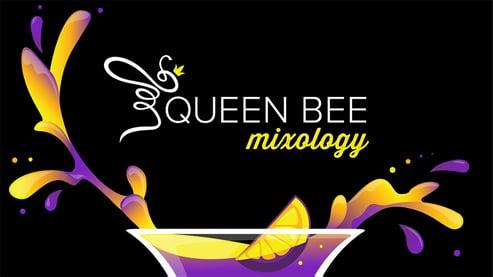 queen bee mixology title card