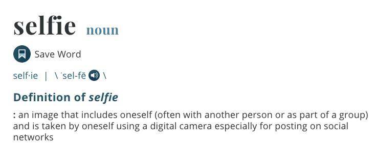 Definition of selfie from Merriam-Webster