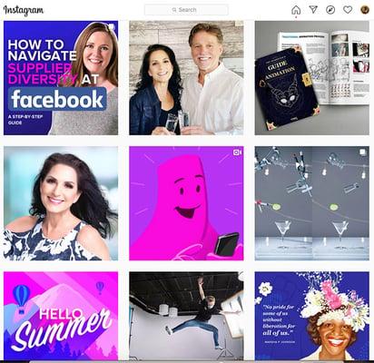 Screenshot of VMG Studios' Instagram account
