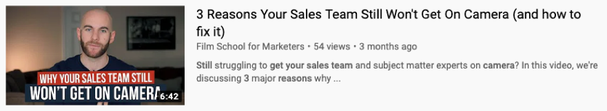 YouTube video title and thumbnail with text and similar keywords